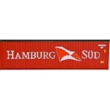 Hi-Cube 40ft x 9'6 Hamburg SUD Red Livery - Pair