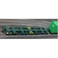 FLA Twin Pack with 1 X OOCL (Grey) Hi-Cube and 1 X Evergreen (Green)