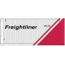 C=Rail Freightliner (White-Red) 20FT Container ( Per pair)